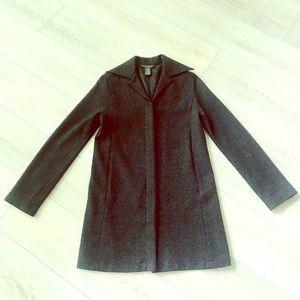 🌟 Banana Republic Gray Wool Coat